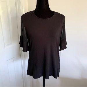 Flutter sleeve blouse